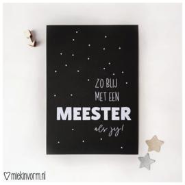 Zo blij met een meester als jij! || Ansichtkaart
