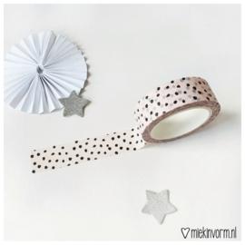 Masking tape || lichtroze met zwarte stipjes