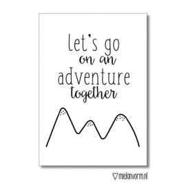 Let's go on a adventure together || Ansichtkaart