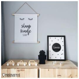 Textielposter || Slaap kindje slaap