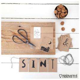 DIY Letterslinger || Welkom Sint & Piet || kraftkaartjes