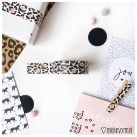 Masking tape || panter roze