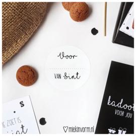 Sticker || Voor... van Sint