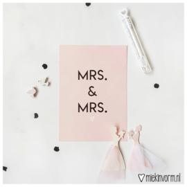 Mrs & Mrs || Ansichtkaart