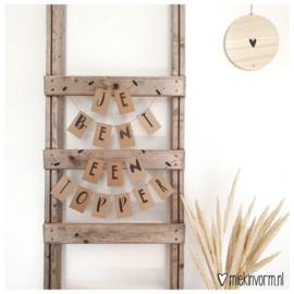 DIY Letterslinger mini-kaartjes || Je bent een topper