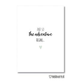 and so the adventure begins... || Dubbelgevouwen ansichtkaart met envelop
