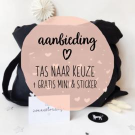AANBIEDING || Tas met GRATIS mini-kaartje & sticker