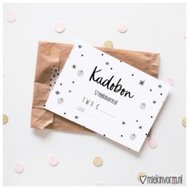 Kadobon || waarde divers || om zelf te printen