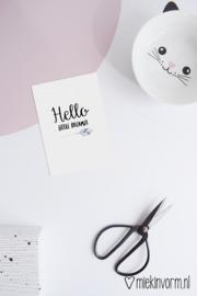 Hello little dreamer || Ansichtkaart
