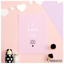 Ik hou van jou || Ansichtkaart