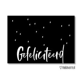 Gefeliciteerd || Ansichtkaart