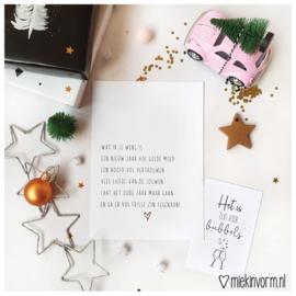 Wat ik je wens is... || Ansichtkaart met goudfolie