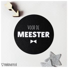 Sticker || voor de meester