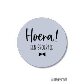 Sticker    Hoera! een broertje