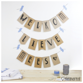 DIY slinger mini-kaartjes || Welkom lieve ...♡