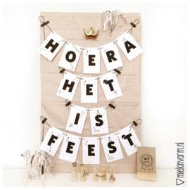 Slinger & Poster Hoera vandaag is het feest! || printable