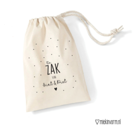 Sintzak || De zak van Sint & Piet || 49 x 70 cm || vlek
