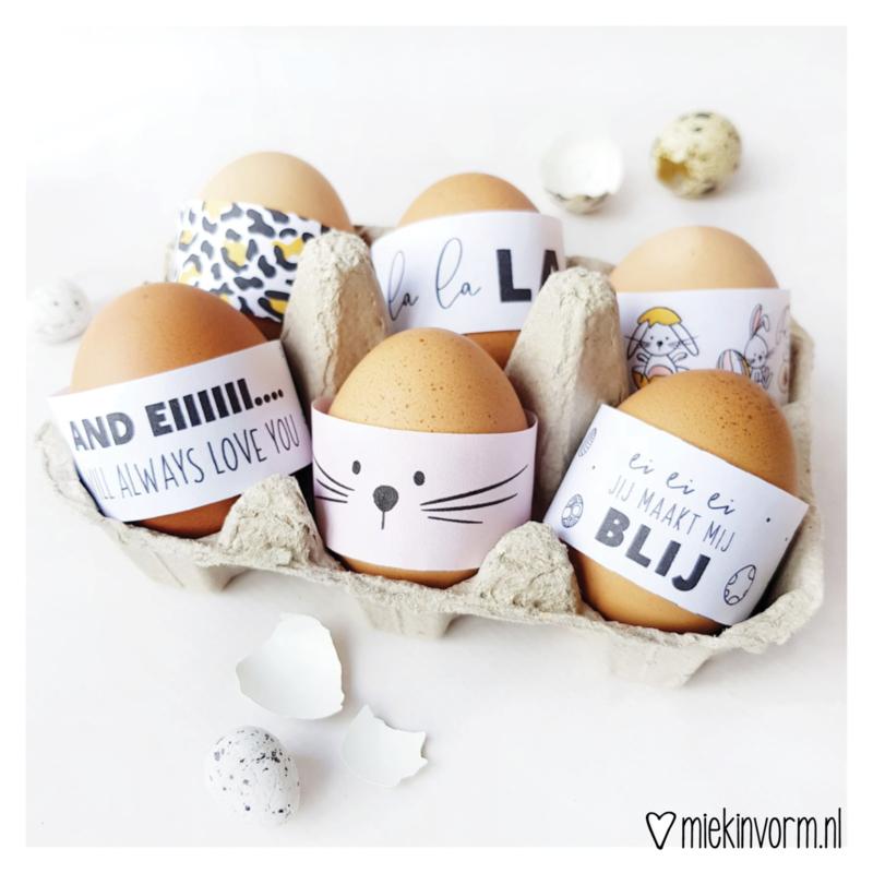 Bl-eie eitjes paas-wikkels    printable