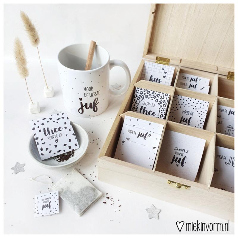 Theebox || voor eigen gemaakte theezakjes voor juf/ meester of andere topper