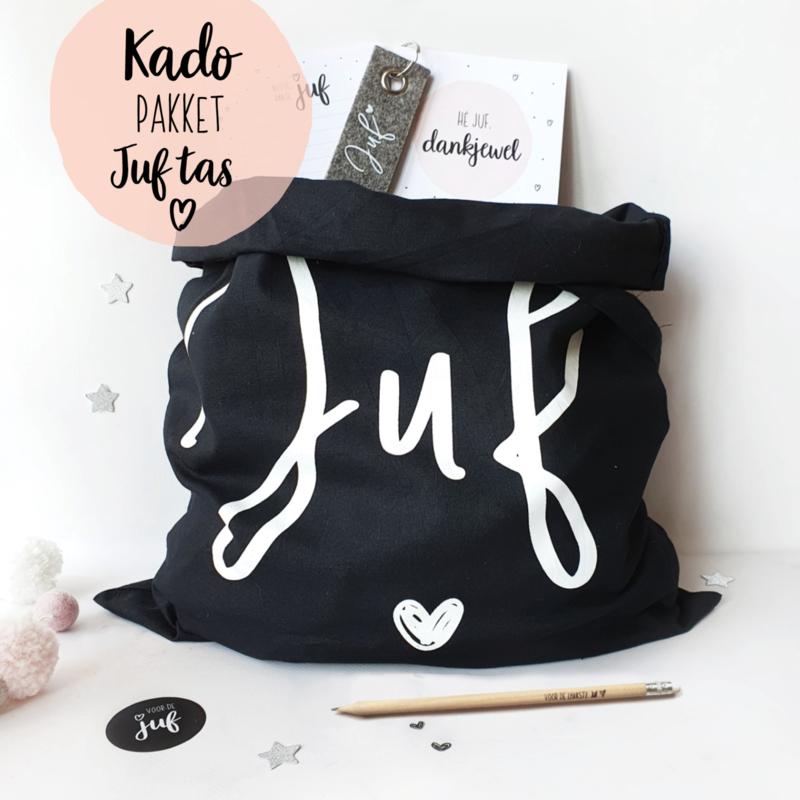 Kado-pakket    Juf tas zwart