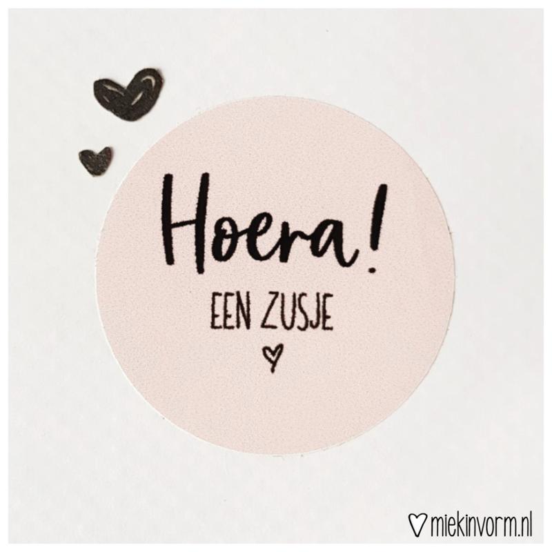Sticker || Hoera! een zusje
