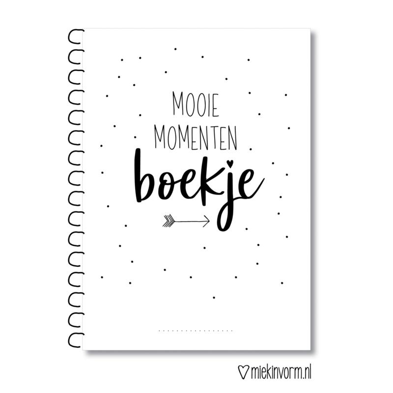 Mooie momentenboek A5 || voorkant zit op zijn kop