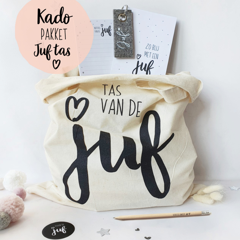 Kado-pakket || Juf tas wit