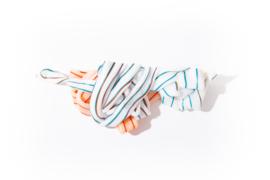 White & Orange + Stripes - no.86/2021