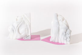Rainbow Bookend set - Marble Pink - no. 5
