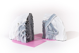 Rainbow Bookend set - Marble Pink - no. 11