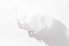 Opaque white with white stripes no. 1