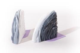 Rainbow Bookend set - Transparent Lilac - no. 8