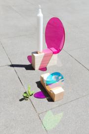 Colour tealight holder