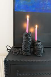 Black Spaghetti - Candle Holder Large