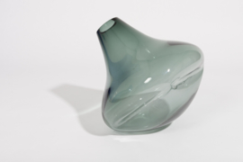 Grey Blown Glass Vase