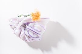 Opaque White & Purple stripe no. 2 | large