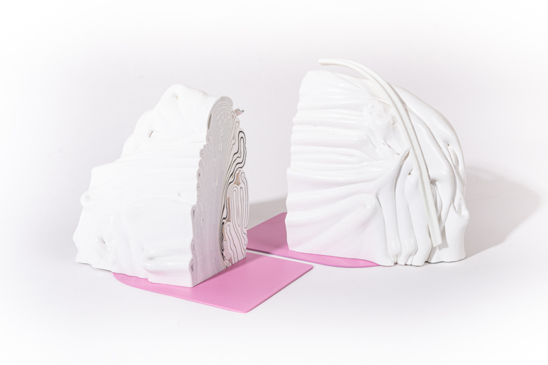 Rainbow Bookend set - Marble Pink - no. 7