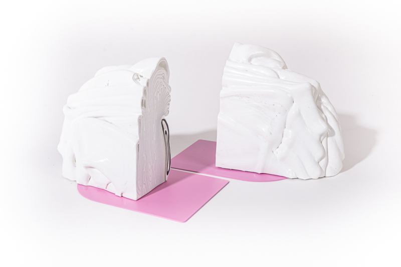 Rainbow Bookend - Marble Pink - no. 10