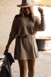 Nola knitted dress light beige