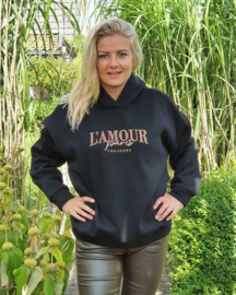 Sweater L'amour zwart