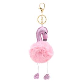 Flamingo sleutelhanger roze