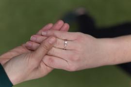 3-steens verlovingsring Diamant