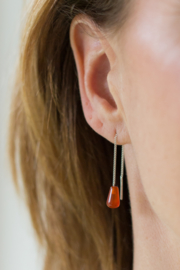 Zilveren Rookkwarts oorhangers