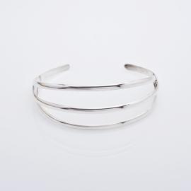 Zilveren armband 3rij