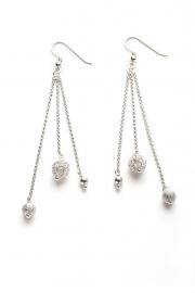 Zilveren bol oorbellen