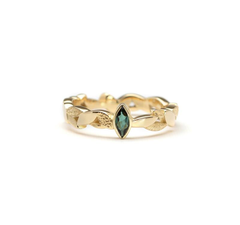 Leaves Full Band ring Toermalijn