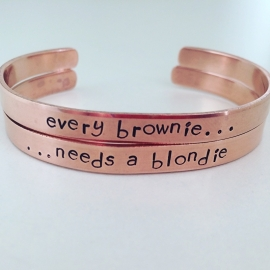 Every brownie needs a blondie