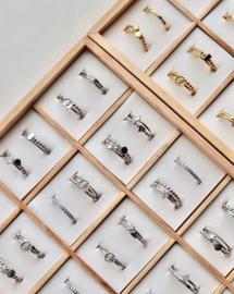 Ring structure - echt zilver