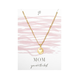 Mom the best ketting