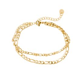 Double chain armband